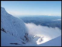 Mount Hood climb: looking south, Mount Jefferson and the Sisters