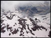 Climb of Mount St. Helens: lava dome with fumaroles