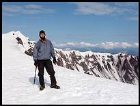 Climb of Mount St. Helens: on the crater rim