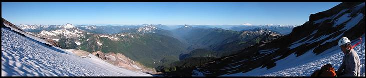 Glacier Peak climb: looking west, Mount Baker