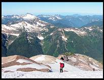 Glacier Peak climb: on the Sitkum Glacier