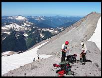 Glacier Peak climb: unroping on Sitkum Ridge