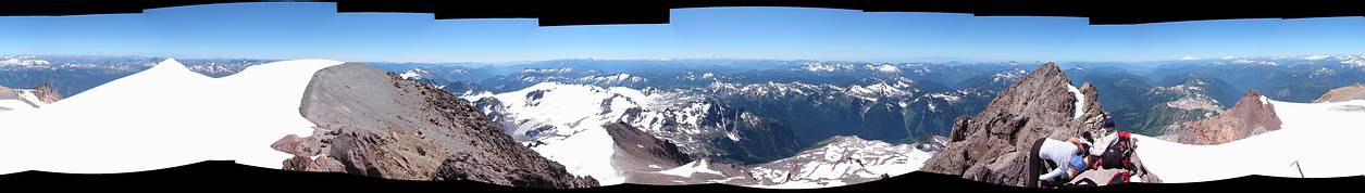 Glacier Peak climb: 360 degrees summit panorama