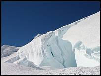 Climb of Mount Rainier: crevasse