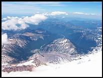 Climb of Mount Rainier: lower Emmons Glacier