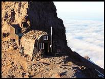 Climb of Mount Rainier: Camp Schurman rangers hut