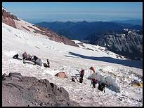 Climb of Mount Rainier: Camp Schurman with tent city