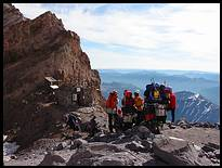 Climb of Mount Rainier: Camp Schurman