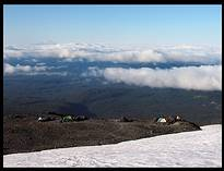"Mount Adams climb: camp site at the ""lunch counter"", Mt Hood"