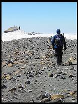 Mount Adams climb: Jim, old hut