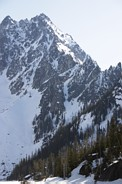 Colchuck Peak climb: Colchuck Peak with North Buttress couloir (our objective)