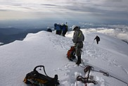 Mount Hood climb: on the summit