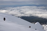 Mount Hood climb: climbers approaching the summmit