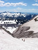 "Mount Rainier climb: ascending the ""fan"""