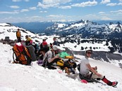 "Mount Rainier climb: break at the top of the ""fan"""
