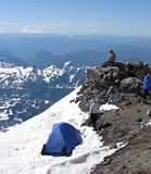 Mount Rainier climb: Mount adams in the background