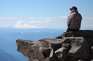 Mount Rainier climb: Jeff and Mount Adams
