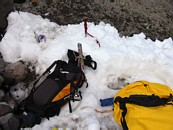 Mount Rainier climb: my bivy site