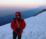 Mount Rainier climb: Gary and the shadow of Mount Rainier