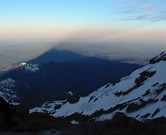 Mount Rainier climb: Mount Rainier's shadow