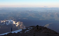 Mount Rainier climb: Camp Hazard and Mount St Helens