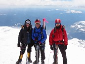Mount Rainier climb: on the crater rim