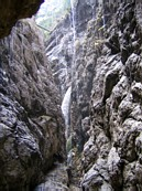 H&amp;#246;llental: in the H&amp;#246;llentalklamm gorge, notice the bridge high above
