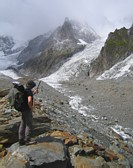 Mont Blanc: on the Glacier du Miage