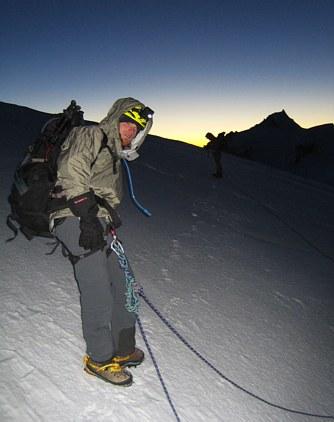Mont Blanc: near the Dome du Gouter at sunrise