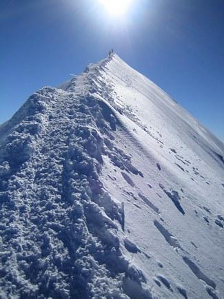 Mont Blanc: on the Bosses Ridge