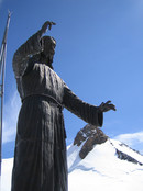 Ludwigshoehe, Parrotspitze, etc: statue on top of Balmenhorn