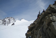 Ludwigshoehe, Parrotspitze, etc: on top of Corno Nero, Dufourspitze, Zumsteinspitze, and Signalkuppe in the background