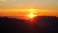 Ruth Mountain climb: sunset over the Olympics
