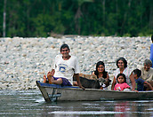 Manu National Park: indigenous people on a boat