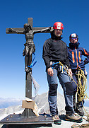 Zinalrothorn: Daniel and Wilfried at the summit of Zinalrothorn